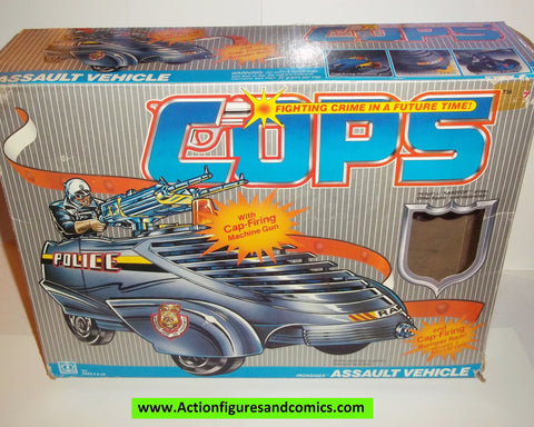 Cops 'n Crooks IRONSIDES assault vehicle HARDTOP 1988 complete with box mib hasbro c.o.p.s. vehicle