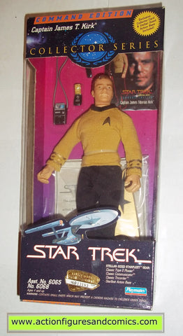 Star Trek CAPTAIN JAMES T KIRK trading card 9 inch playmates toys action figures moc mip mib