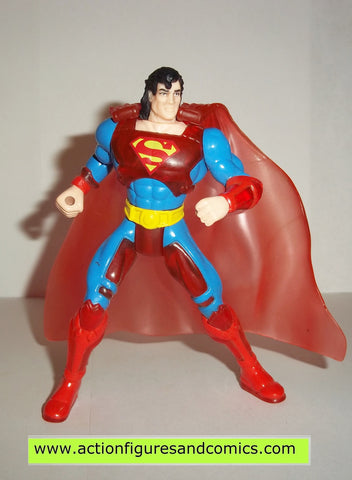 Superman Man of Steel CYBER LINK SUPERMAN translucent 1996 kenner