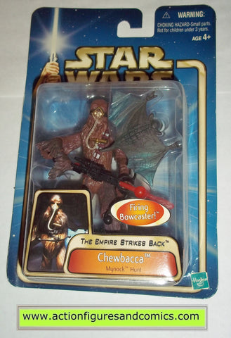 star wars action figures CHEWBACCA mynock hunt 2003 Attack of the clones saga movie hasbro toys moc mip mib