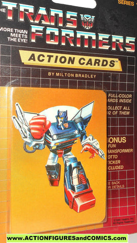 Transformers action cards SKIDS autobot trading card 1985