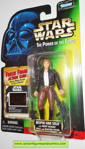 star wars action figures HAN SOLO BESPIN .03 Freeze frame power of the force moc