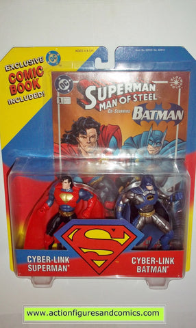 Superman Man of Steel CYBER LINK BATMAN 2 pack kenner toys action figures moc mip mib
