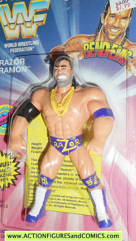 Wrestling WWF action figures RAZOR RAMON 1994 bend-ems justoys moc