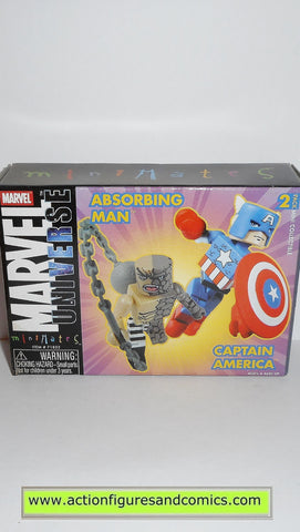minimates ABSORBING MAN CAPTAIN AMERICA marvel universe action figures moc mip mib