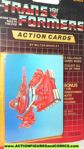 Transformers action cards WARPATH army tank autobot trading card 1985