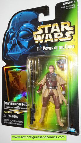 star wars action figures BOUSHH PRINCESS LEIA power of the force hasbro toys moc