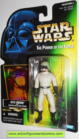 star wars action figures AT-ST DRIVER hologram .00 power of the force moc