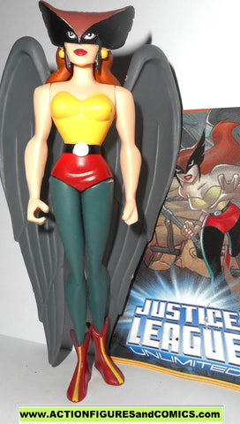 justice league unlimited HAWKGIRL w TRADING CARD dc universe animated mattel
