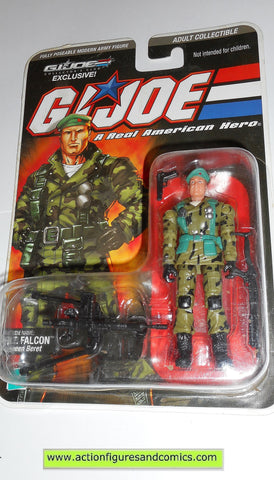 gi joe FALCON LT 2008 DTC cobra action figures hasbro direct moc mip mib