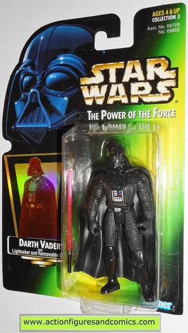 star wars action figures DARTH VADER power of the force .02 hasbro toys moc