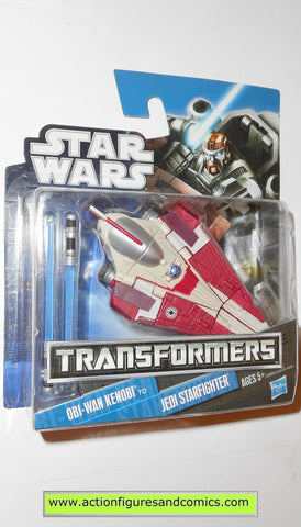Transformers star wars OBI WAN KENOBI RED JEDI STARFIGHTER hasbro action figures moc mip mib