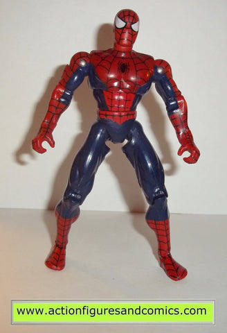 Spider-man the animated series SUPER POSEABLE dark blue variant complete toy biz