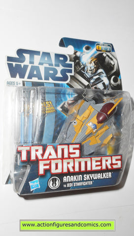 Transformers star wars ANAKIN SKYWALKER JEDI STARFIGHTER hasbro action figures moc mip mib