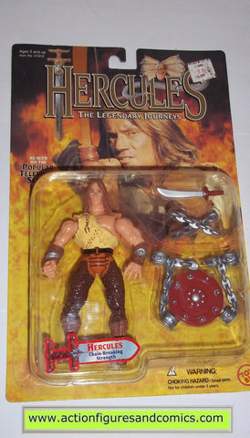 Hercules Legendary Journeys HERCULES chain breaking strength action figures toy biz mib moc mip