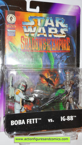 star wars action figures BOBA FETT vs IG-88 shadows of the empire toys moc
