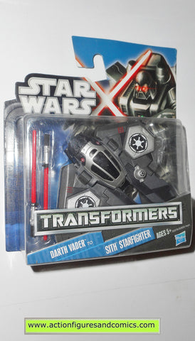 Transformers star wars DARTH VADER SITH STARFIGHTER hasbro action figures moc mip mib
