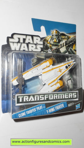 Transformers star wars CLONE TROOPER PILOT Y-WING hasbro action figures moc mip mib