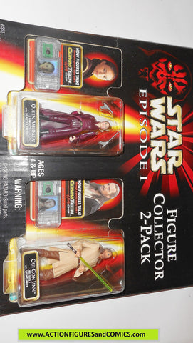 star wars action figures 2 PACK Queen Amidala Qui Gon Jinn episode I 1999