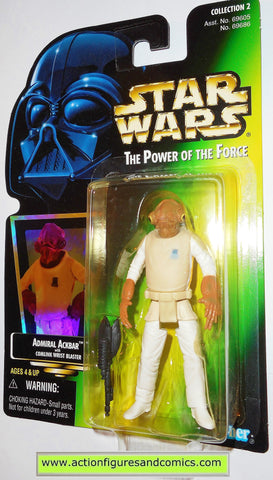 star wars action figures ADMIRAL ACKBAR power of the force hasbro toys moc