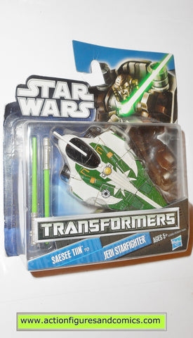 Transformers star wars SAESEE TIIN JEDI STARFIGHTER green hasbro action figures moc mip mib