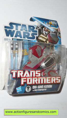 Transformers star wars OBI WAN KENOBI JEDI STARFIGHTER hasbro action figures moc mip mib