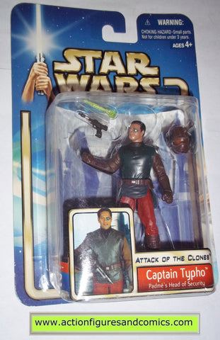 star wars action figures CAPTAIN TYPHO padme's head of security 2002 Attack of the clones saga movie hasbro toys moc mip mib