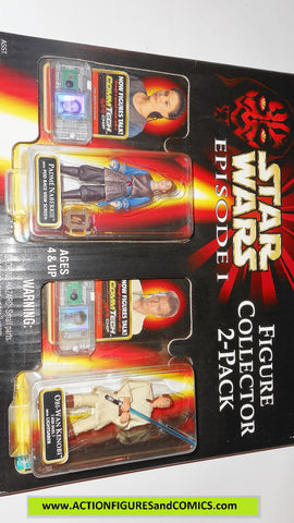 star wars action figures 2 PACK PADME NABERRIE OBI WAN KENOBI episode I 1999