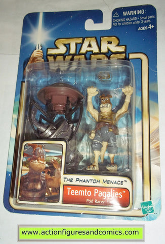 star wars action figures TEEMTO PAGALIES pod racer 2002 Attack of the clones saga movie hasbro toys moc mip mib