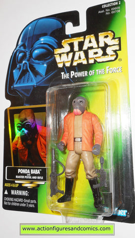 star wars action figures PONDA BABA .00 GRAY beard power of the force hasbro toys moc