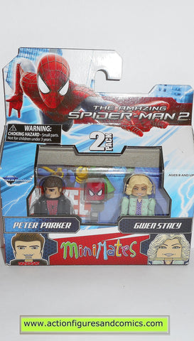 minimates PETER PARKER GWEN STACY spider-man amazing movie marvel universe moc mip mib