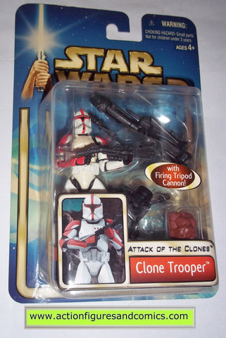 Hasbro Star Wars Attack of the clones CLONE TROOPER Action Figure 2002