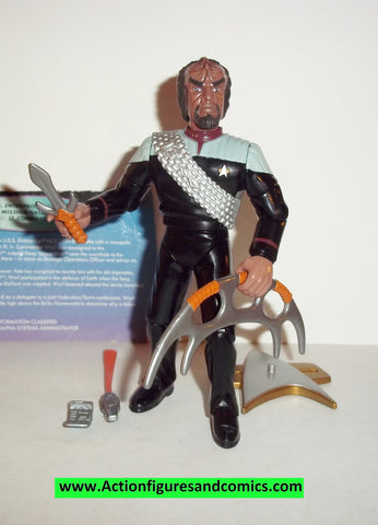 Star Trek WORF target exclusive first contact ds9 uniform playmates complete action figures