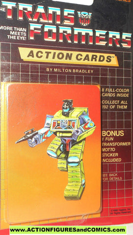 Transformers action cards CONSTRUCTICON BONECRUSHER devastator trading card 1985