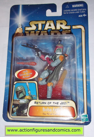 star wars action figures BOBA FETT pit of carkoon 2002 Attack of the clones saga movie hasbro toys moc mip mib
