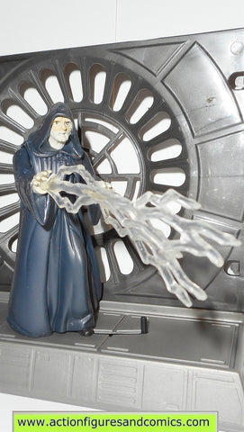 star wars action figures EMPEROR PALPATINE FX 1997 death star base