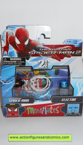 minimates SPIDER-MAN battle damaged ELECTRO amazing movie marvel universe moc mip mib