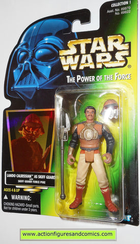 star wars action figures LANDO SKIFF GUARD CALRISSIAN power of the force 1997 hasbro toys moc mip mib