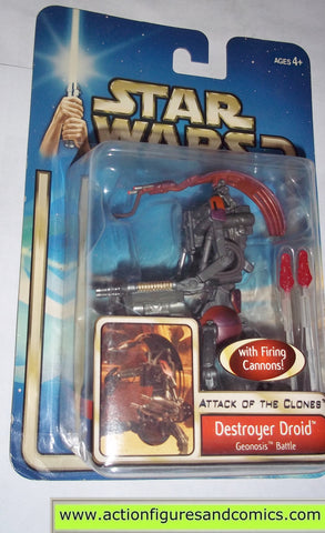 star wars action figures DESTROYER DROID geonosis battle 2002 Attack of the clones saga movie hasbro toys moc mip mib