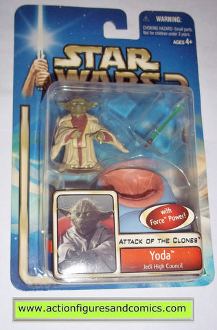star wars action figures YODA jedi high council 2002 Attack of the clones saga movie hasbro toys moc mip mib