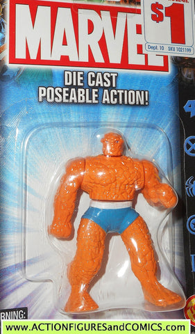 Marvel die cast THING poseable action figure 2002 toybiz fantastic four 4 MOC