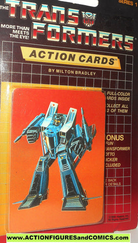 Transformers action cards THUNDERCRACKER seeker jet decepticon trading card 1985