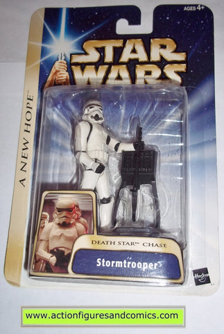 star wars action figures STORMTROOPER death star chase 2004 Attack of the clones saga movie hasbro toys moc mip mib