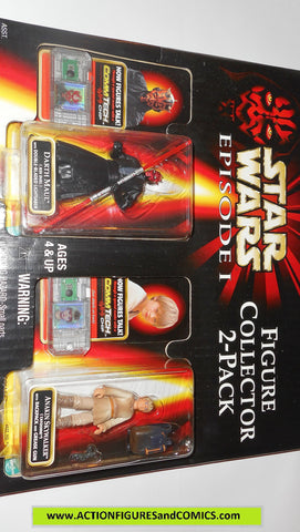 star wars action figures 2 PACK DARTH MAUL ANAKIN SKYWALKER episode I 1999