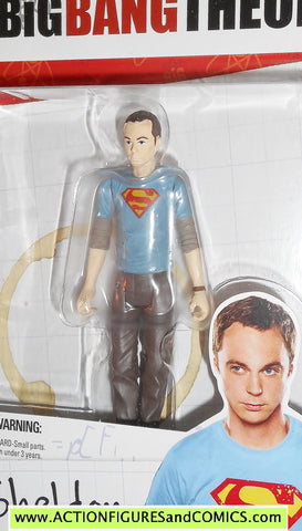 Big Bang Theory SHELDON COOPER Superman variant bif bang bow toys action figures moc