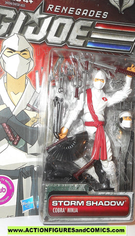 gi joe STORM SHADOW Renegades cobra ninja  2011 toy action figure moc