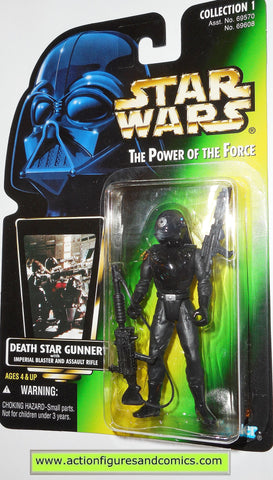 star wars action figures DEATH STAR GUNNER green card 01 photo power of the force moc