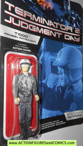 Reaction figures Terminator T1000 FROZEN patrolman HEAVY VARIANT judgment day 2 movie action moc
