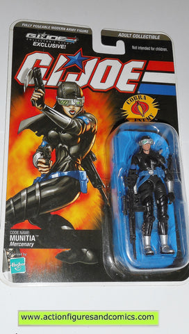 gi joe MUNITIA 2008 DTC cobra action figures club exlcusive moc mip mib 00