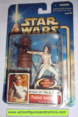 star wars action figures PADME AMIDALA queen arena escape 2002 Attack of the clones saga movie hasbro toys moc mip mib